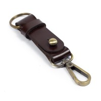 Gantungan Kunci Kulit Sapi Asli Keychain Snap hook Key holder GK-C03
