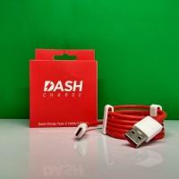 Kabel Data One Plus Dash Colokan Type C Original Merah