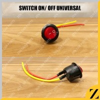 Saklar Switch Tombol BULAT On Off LED Motor Mobil Lampu UNIVERSAL