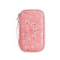 Dompet Passport / Cover Passport / Dompet Travel Organizer Karakter - Pink Flower