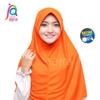 Jilbab Afra Instan Beria Arfa Bergo Kaos Kerudung Hijab Orange Oranye