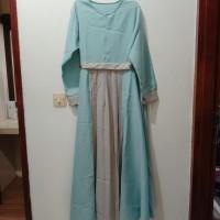 Gamis Maxi Dress Muslim Wanita Rempel Tengah