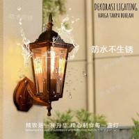 Lampu L-1057 Lampu Dinding taman pilar E27 dekor hias vintage outdoor