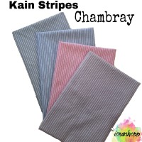 Kain Stripes Chambray Lebar 150cm