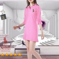 Kaos Kerah Tunik C15-28 Pink Original POLO COUNTRY Dress 7/8