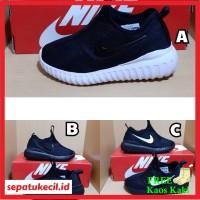 Sepatu Anak Nike Slip On Full Hitam Size 31-35 Grade Ori Vietnam
