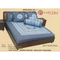 Saputra Sprei Batik 180x200 Full Katun Motif 43 / Seprai No 1