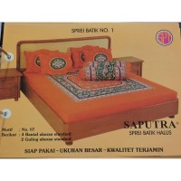 Saputra Sprei Batik 180x200 Full Katun Motif 03 / Seprai No 1