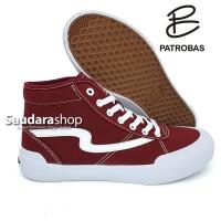 sepatu Patrobas Ivan High Maroon / Patrobas Ivan Maroon High /Patrobas