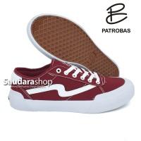 Sepatu Patrobas Ivan Low Maroon / Patrobas Ivan Marun Low /Patrobas LC
