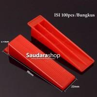 Tile Leveling Wedges Merah / Wedges Alat Perata Keramik / Wedge Merah