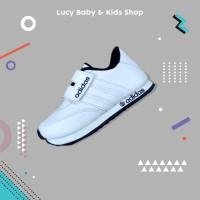 Sepatu Anak Laki Perempuan Cowok Cewek Putih Olahraga Sekolah SD TK