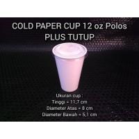 Cold Paper Cup / Gelas Kertas 12 oz Plus Tutup