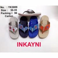 Sandal Jepit paylon Inkayni YK-3009 untuk Anak laki laki tanggung