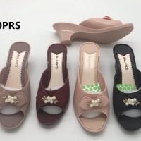 Sandal Selop Jelly Fashion Hak Wedges Balance 707-2 Wanita
