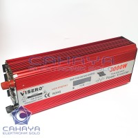 Inverter Visero Sinus 3000W 24V PSW Sine Wave Murni Batere Accu 220V