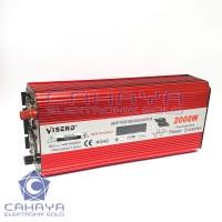 Inverter Visero Sinus 2000W 24V PSW Sine Wave Murni Batere Accu 220V