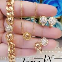 xuping set perhiasan lapis emas 24k 27b4
