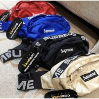 Tas Supreme Waist Bag SS18 Canvas Mirror Quality SALE