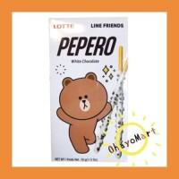 PEPERO White Chocolate / Pepero Coklat Vanila/ Pepero Line Friends 32g