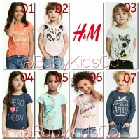 ORIGINAL BRANDED Kaos H&M Tee anak t-shirt hnm - gap kids babygap top