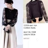 Blouse Rajut Tangan Panjang Mutiara Keren Cantik/Bm-1193 Knit Pearl