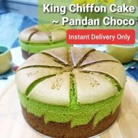 King Chiffon Cake ~ Pandan Choco