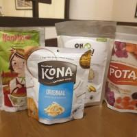 Paket Cemilan Sehat Healthy Snack (Keripik Buah, Ubi, Crackers Beras)