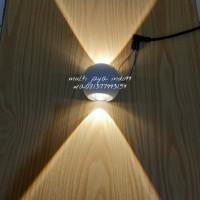 lampu dinding LED bulat 2x1 wat/LED wall light outdoor 2wat 2W