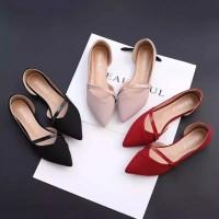 Sepatu flat shoes wanita kerja teplek rs10