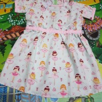 dress anak motif balerina