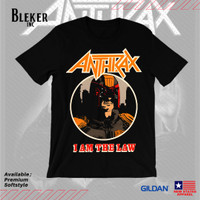 Kaos Gildan Softstyle Anthrax I Am The Law