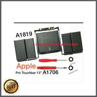 Baterai Apple Macbook Pro Touchbar 13 Inchi A1706 A1819 Th. 2016 2017
