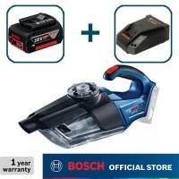 Bosch Penyedot Debu Baterai 18Volt GAS 18 V-1 Full Set (4.0 Ah)