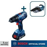 Bosch Bor Baterai GSR 180-LI dengan Vacuum Cleaner Baterai GAS 18 V-1