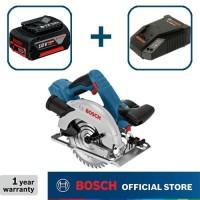 Bosch Gergaji Sirkel Baterai 18Volt GKS 18 V-Li Full Set (4,0 Ah)