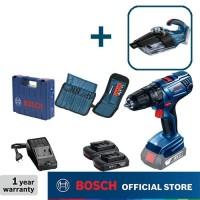 Bosch Bor Baterai GSB 180-LI dengan Vacuum Cleaner Baterai GAS 18 V-1