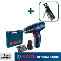 Bosch Bor Tembok Baterai dengan Mata Bor CYL-2 3PCS GSB 120-LI GEN3
