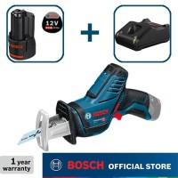 Bosch Sabre Saw Baterai 12Volt GSA 12 V-LI Full Set (3,0 Ah)