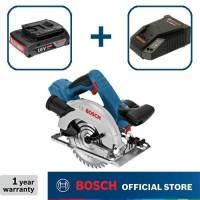 Bosch Gergaji Sirkel Baterai 18Volt GKS 18 V-Li Full Set (2,0 Ah)