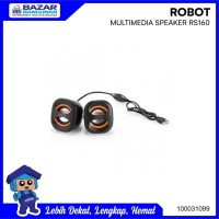 SPEAKER STEREO MULTIMEDIA USB PORTABLE PC LAPTOP HP ROBOT RS 160 RS160