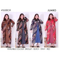 Gamis Batik Jumbo 127 Long Dress Maxi Bigsize Lengan Panjang Vol46