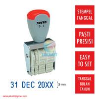 Stempel Tanggal Bulan Tahun 1 Warna JOYKO Kenko D-4 Dater Stamp