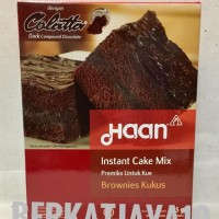 Haan Instant Cake Mix Brownies Kukus Tepung Premix Brownis 415 gr