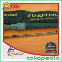 Joran Pancing Ryobi Survival SRVC-60MH Fuji Fishing Rod Casting