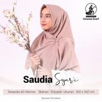 Termurah hijab jilbab segi 4 saudia polos jumbo umama