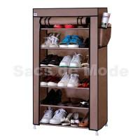Rak Sepatu Single 6 Ruang / Portable Single Shoes Rack 6 Layer