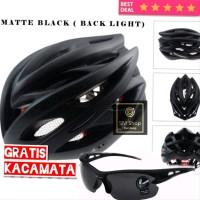 VICTGOAL Helm Sepeda EPS PVC Shell dengan Lampu Backlight