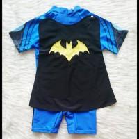 Terbaru Swimsuit Batman Jubah Topi - Baju Renang Anak Laki Laki - Size