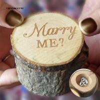 Kotak Cincin Kawin / Tunangan Motif Marry Me Bahan Kayu